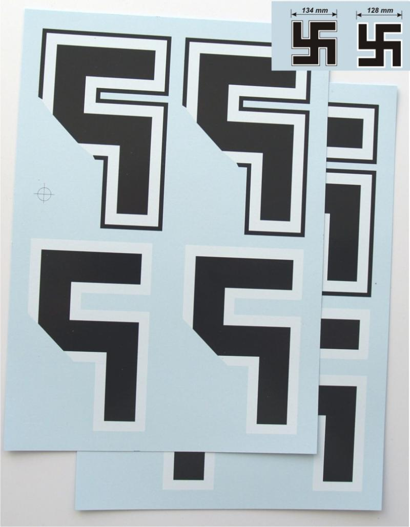 Decals Luftwaffe Swastikas (1/4)