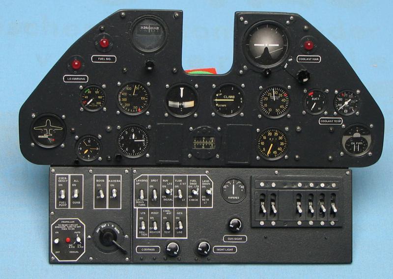 Ready Made Panel P 40 Kittyhawk Aerocockpit