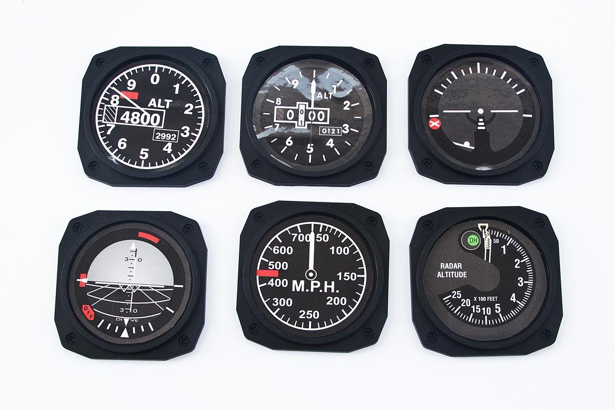 Aircraft instrument-style trays (JET) - AEROCOCKPIT