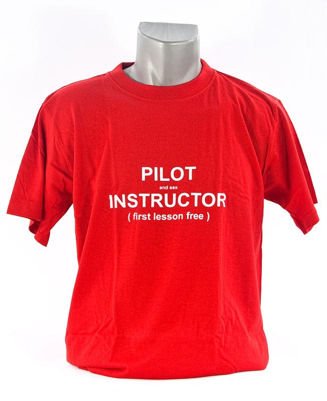 998efd8cb Pilot instructor - funny T-shirt - AEROCOCKPIT