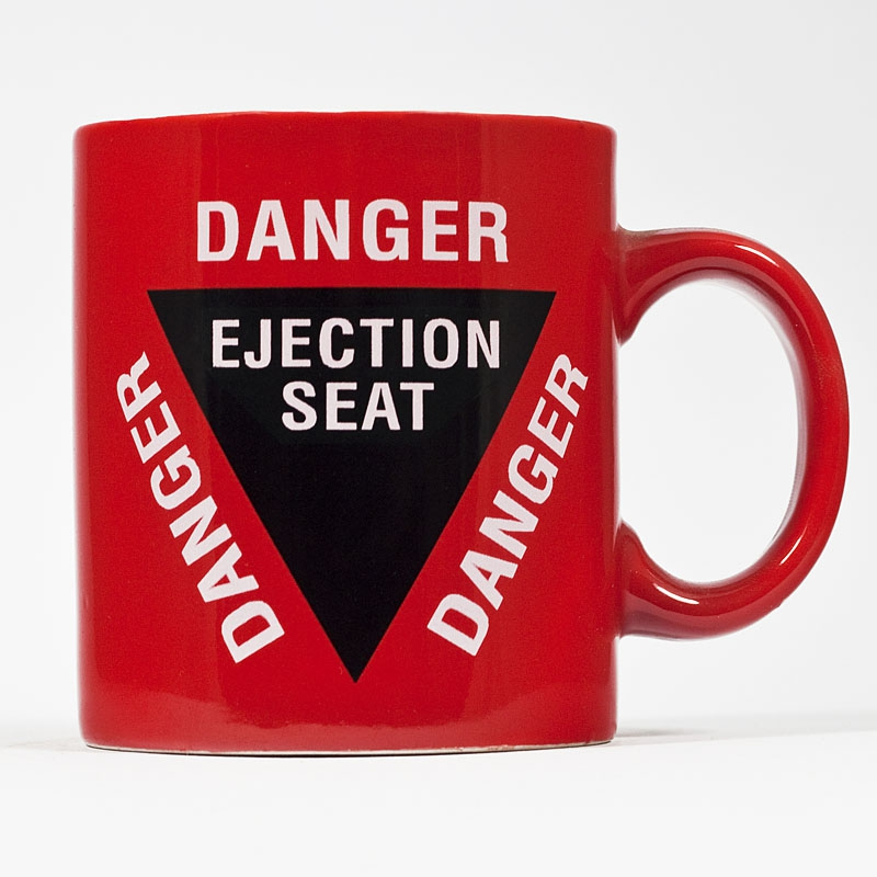 Mug Danger ejection seat mug