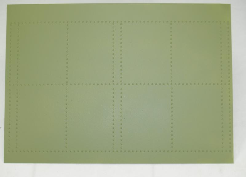 Plastic panel 1 mm with rivets WW II USA ( 30 x 20 cm )