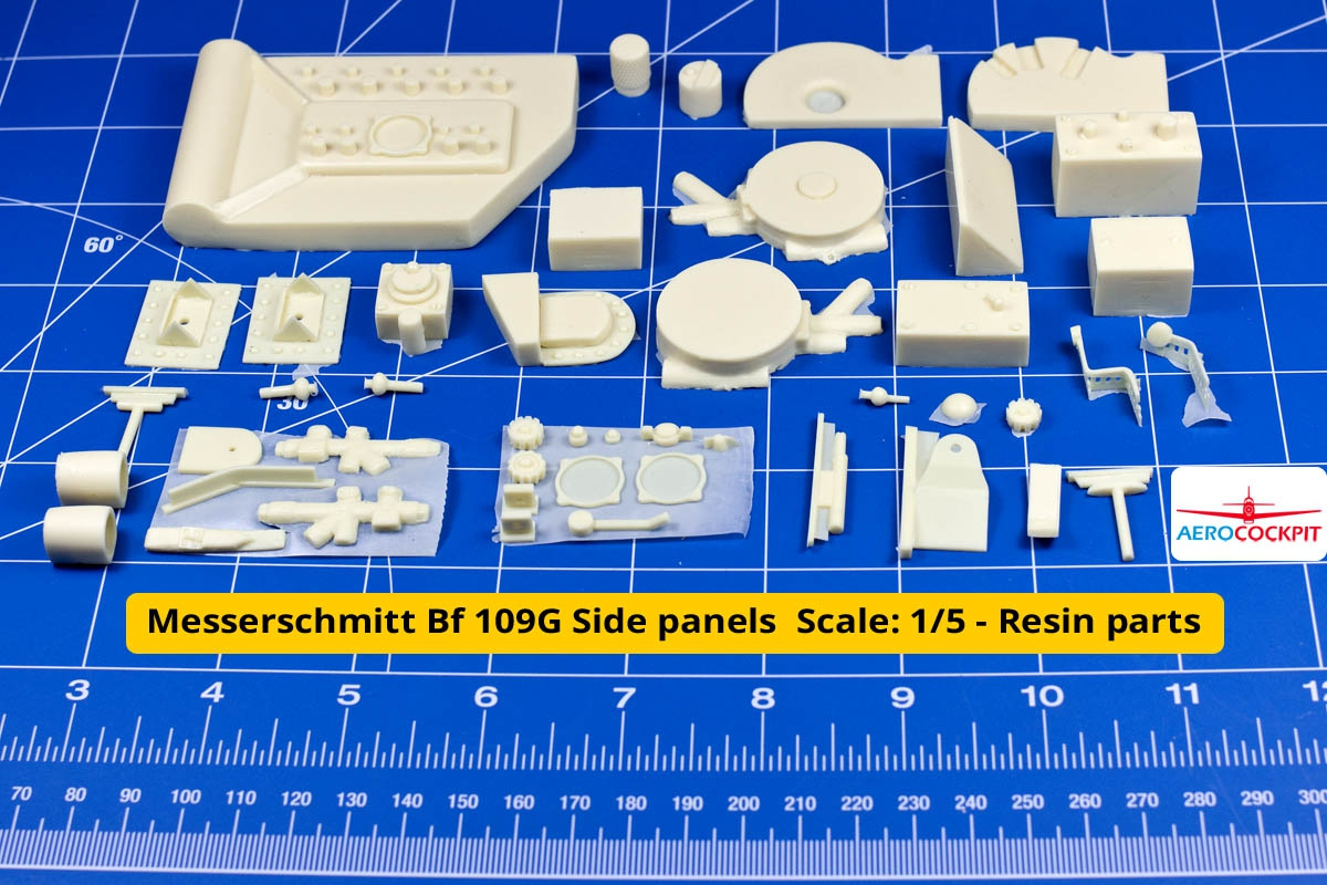 Messerschmitt Bf 109G Side panels - Resin parts
