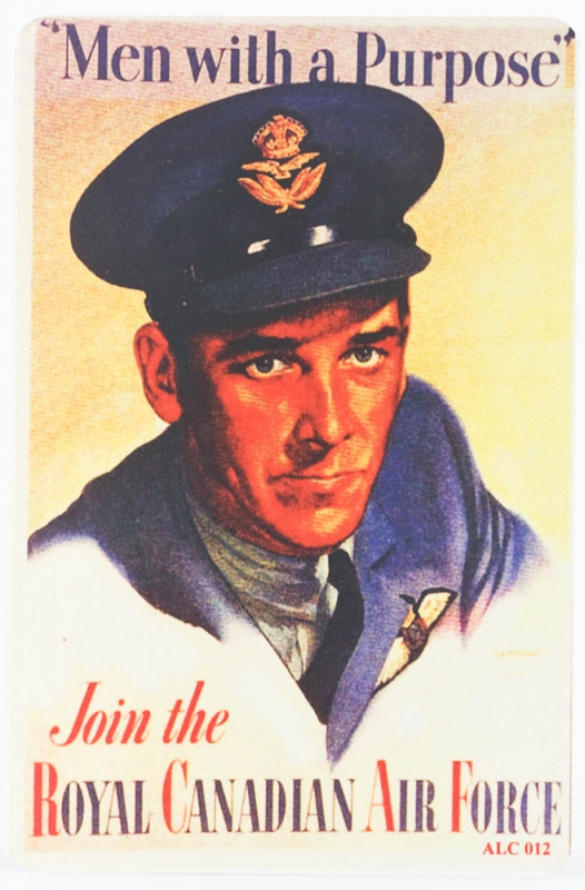 Poster WWII Man with a Purpose - ALUMCARD